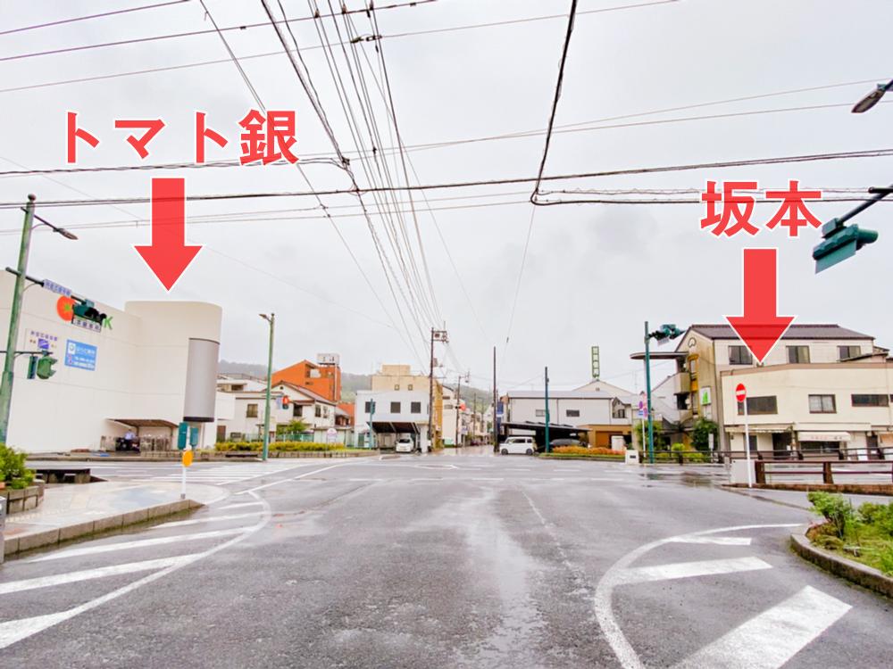 坂本:最寄りのコインパーキング(トマト銀行内有料駐車場)