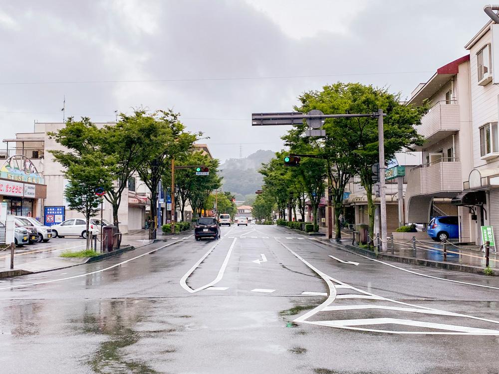 坂本への行き方:笠岡駅前 県庁通り