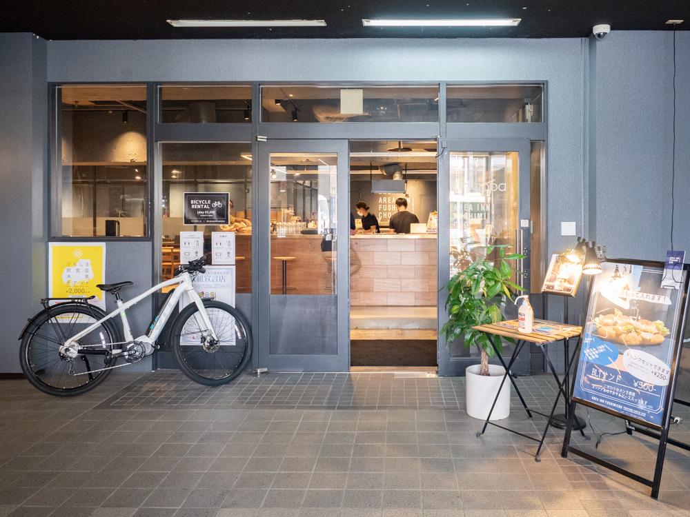 AREA INN FUSHIMICHO:カフェラウンジ&コワーキングスペース入口