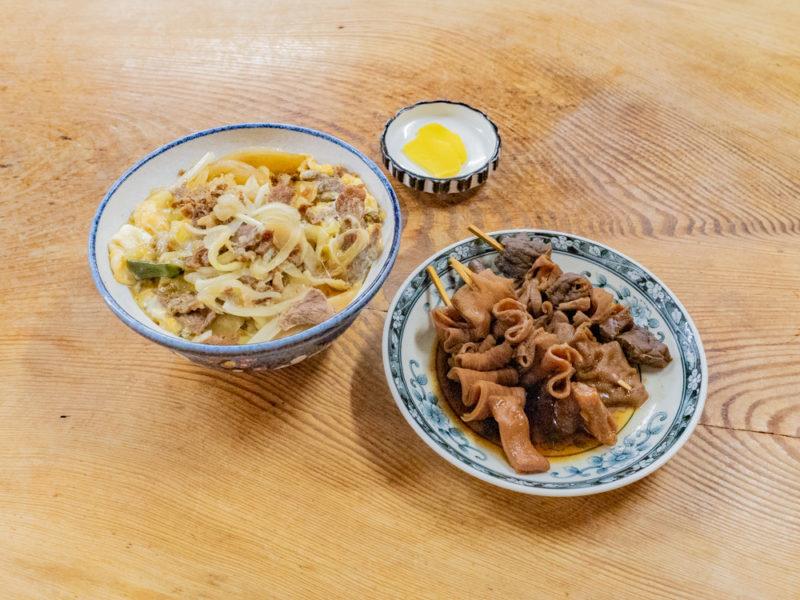 稲田屋:関東煮・肉玉丼