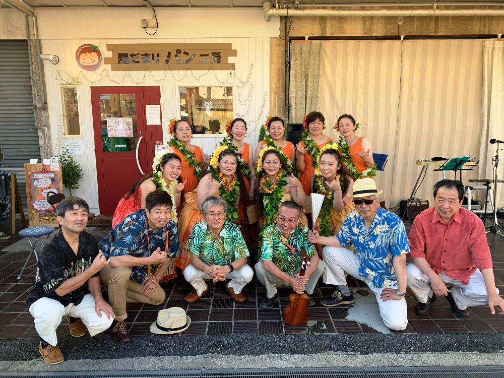 音楽仲間と開いたハワイアンイベント