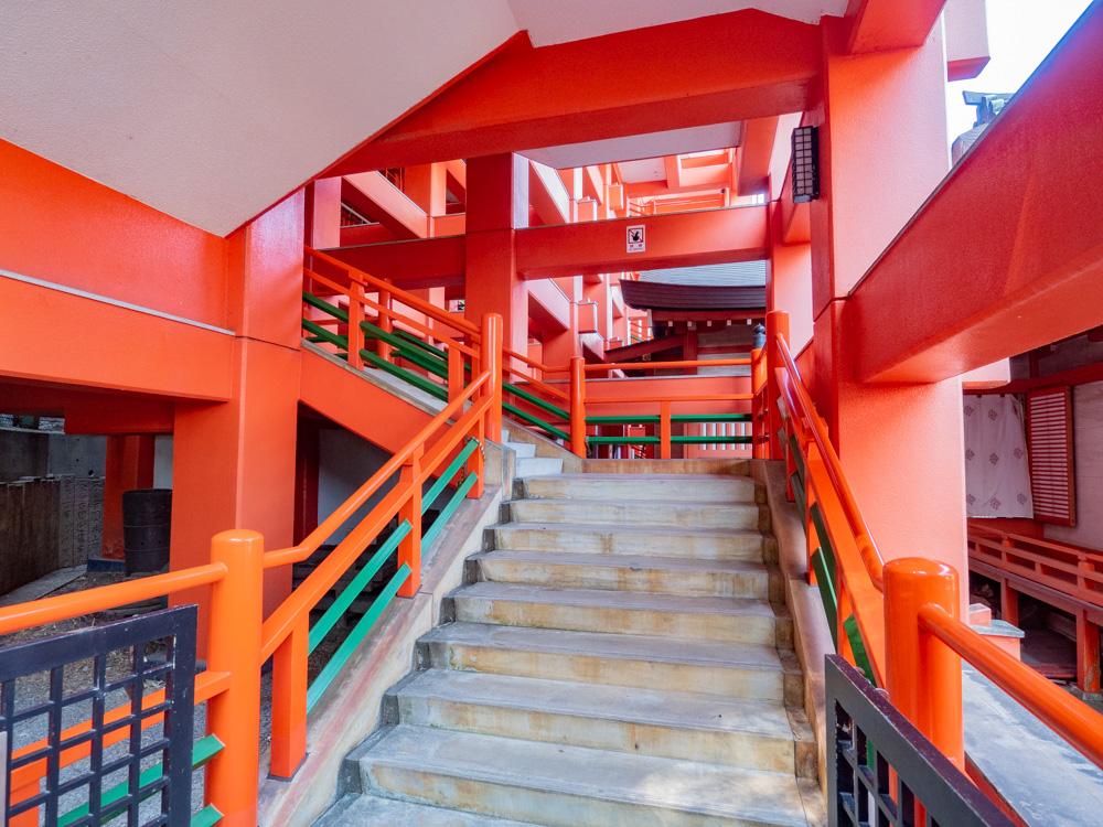 草戸稲荷神社:本殿参拝階段