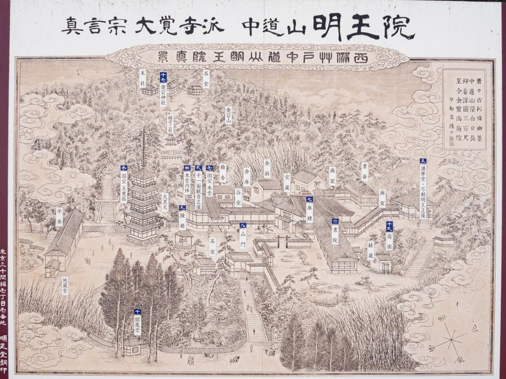 明王院:境内 案内図