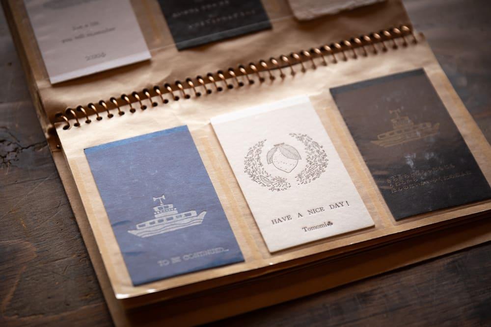 3種類のカードのデザイン