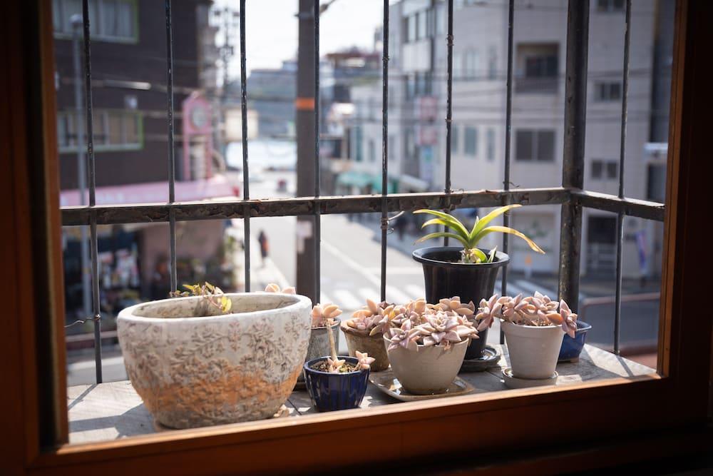 活版カムパネルラの窓から見える風景