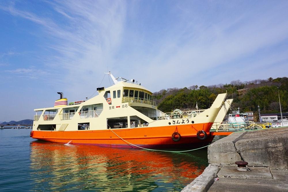 笠岡諸島への行き方ガイド ~ フェリー・旅客船の乗り方、港までの行き方、運賃などを解説