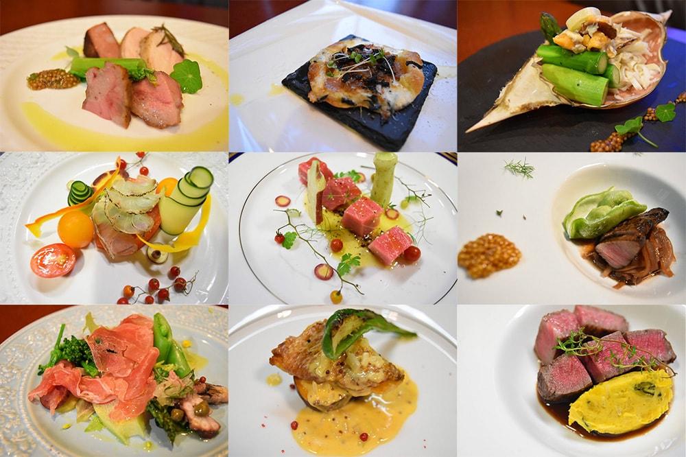 Aij-to(アジト):コースに出される料理の一例