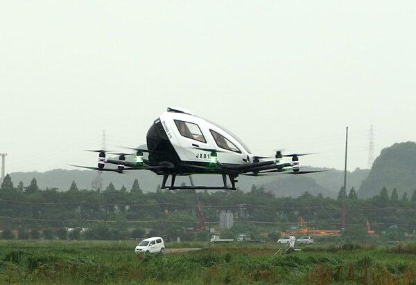 空飛ぶクルマのデモフライト 〜 笠岡ふれあい空港で一般社団法人MASCが国内初の屋外試験飛行成功