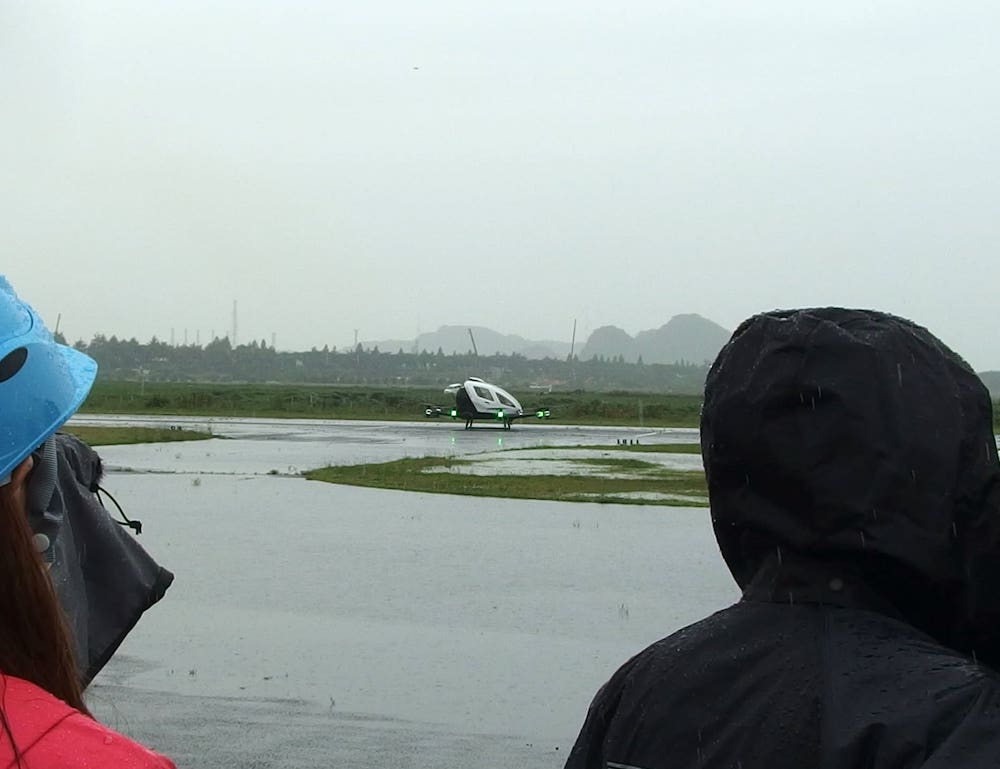 Ehang216AAV屋外試験飛行