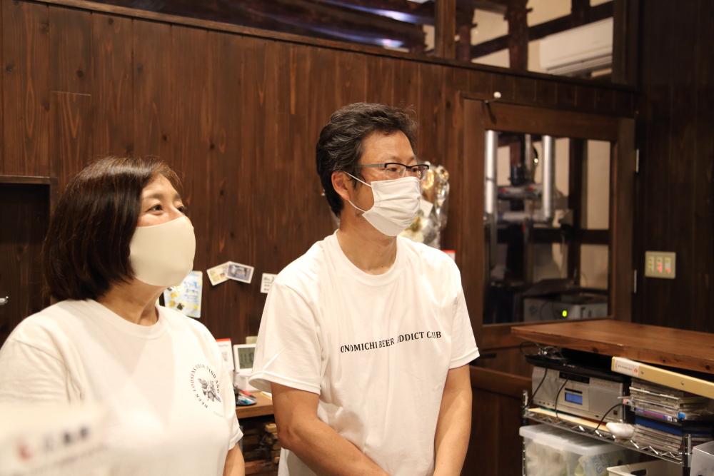 尾道ブルワリーの佐々木さん夫妻